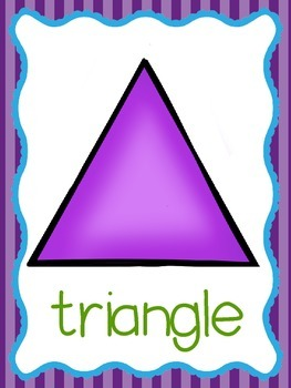 Shape Posters- Blue and Purple