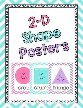Shape Posters- Bright Chevron