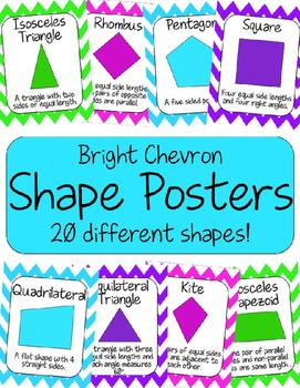 Shape Posters - Bright Chevron