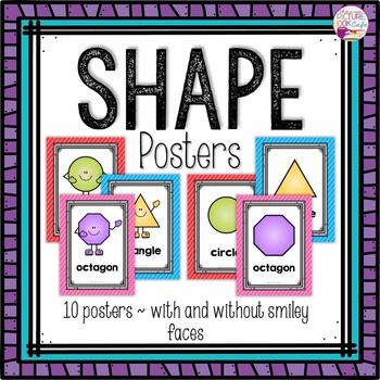Dollar Deals! Shape Posters-Bright Colors