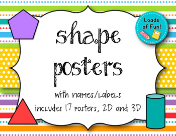 Shape Posters (Bright Dot & Striped Background)