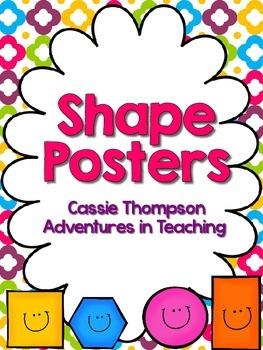 Bright Quatrefoil Shape Posters