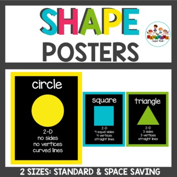 Chalkboard Brights Shape Posters