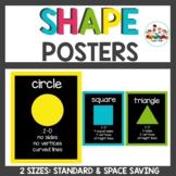 Chalkboard Brights Classroom Decor Shape Posters