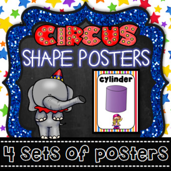 shape posters circus theme carnival 2d 3d shapes by