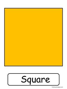 Shape Posters  {Common Core Math K.G.A.2}
