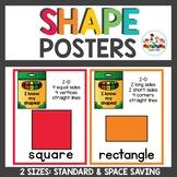 Shape Posters Crayon Themed Classroom decor