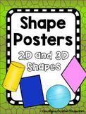 Shape Posters - Dinosaur or Lizard Theme