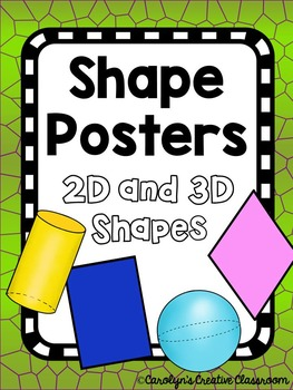 Shape Posters - Dinosaur or Lizard Theme