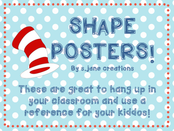 Shape Posters- Dr. Seuss Edition