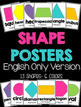 Shape Posters English Only