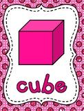 Shape Posters Glitter Polka Dot Classroom Theme Decor