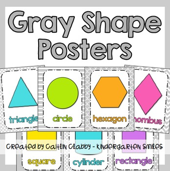 Shape Posters (Gray)