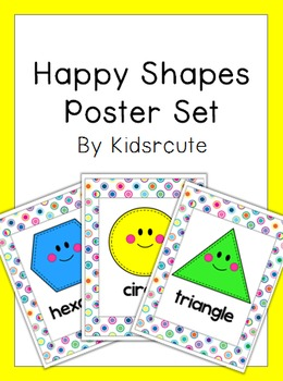 Shapes Poster Set~ Happy Shapes~ 2D/Plane Shapes