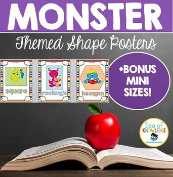 Shape Posters Monster Themed