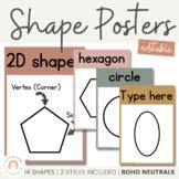 Shape Posters | BOHO NEUTRAL Color Palette | Neutral Classroom Decor