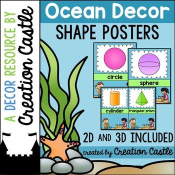 Shape Posters - Ocean Decor