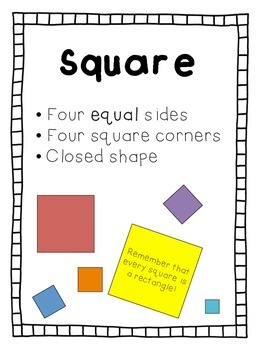 Shape Posters PLUS Sorting Activity