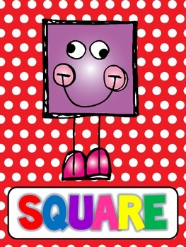 Shape Posters {PRIMARY} Polka Dots
