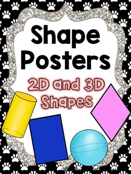 Shape Posters - Paw Prints and Pet Theme