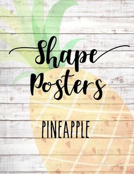 Shape Posters ~ Pineapple & Shiplap
