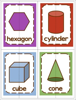 Shape Activities and Math Posters: Kindergarten Geometry