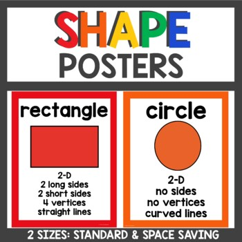 Shape Posters Primary Colors
