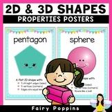 Shape Posters - Properties of 2D & 3D Shapes