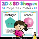 Shape Posters - Properties of 2D & 3D Shapes