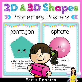 Shape Posters - Properties of 2D and 3D Shapes