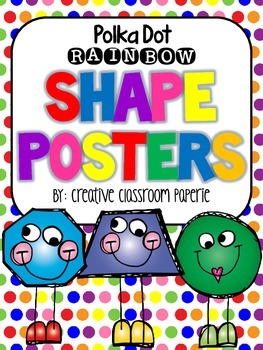 Shape Posters: {RAINBOW} Polka Dots