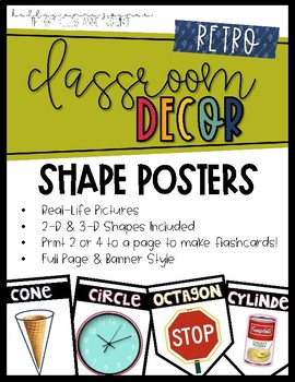 Shape Posters - RETRO