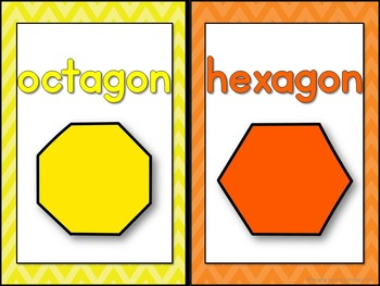 2D and 3D Shape Posters - Chevron
