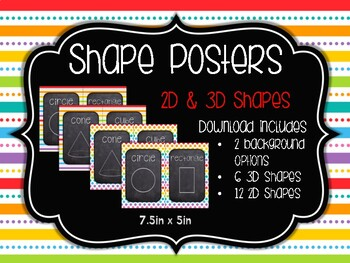 Shape Posters: Rainbow Pop
