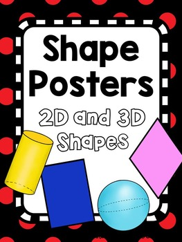 Shape Posters - Red and Black Theme or Ladybug Theme