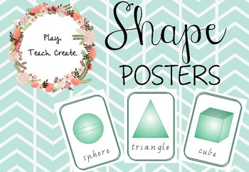 Shape Posters (Sassoon font)