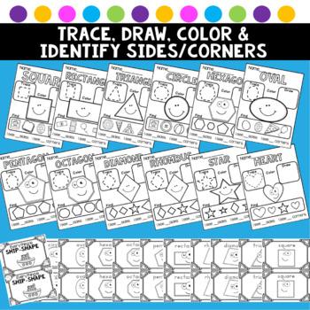 Shape Posters Shape Practice Activities Worksheets