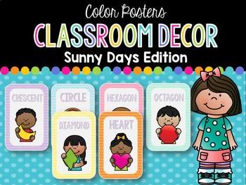 Shape Posters: Sunny Days Classroom Decor