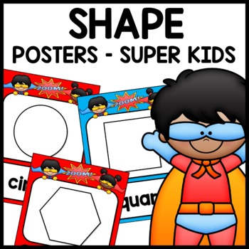 Shape Posters (Superhero Themed)