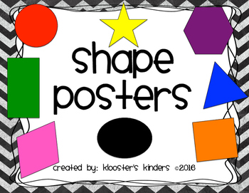Shape Posters - Table Team Labels