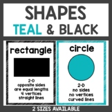 Shape Posters Teal and Black Classroom Decor