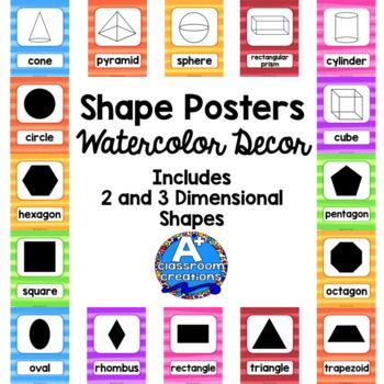 Shape Posters Watercolor Decor