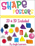 2D & 3D Shape Posters (White Background)