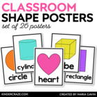 2D and 3D Shape Posters {White Series}