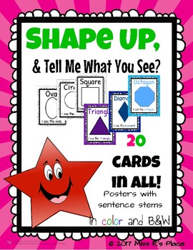 Shape Posters With Sentence Stems