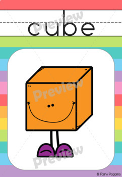 Shape Posters and Word Cards- 2D and 3D