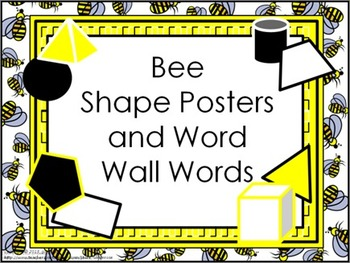 Shape Posters and Word Wall Words - Bee