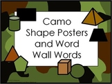Shape Posters and Word Wall Words - Camo