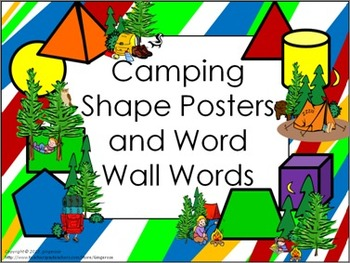 Shape Posters and Word Wall Words - Camping
