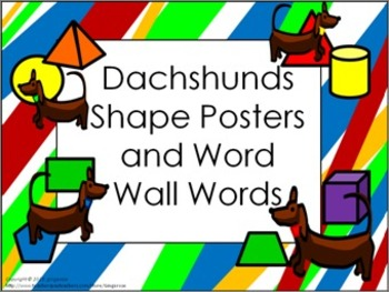 Shape Posters and Word Wall Words - Dachshund